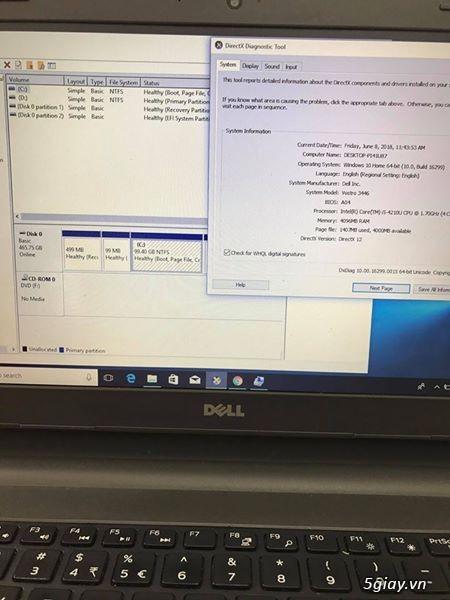 Bán laptop dell vostro 3446 core i5 4210U R4GB Ổ CỨNG 500GB SIÊU BỀN - 3