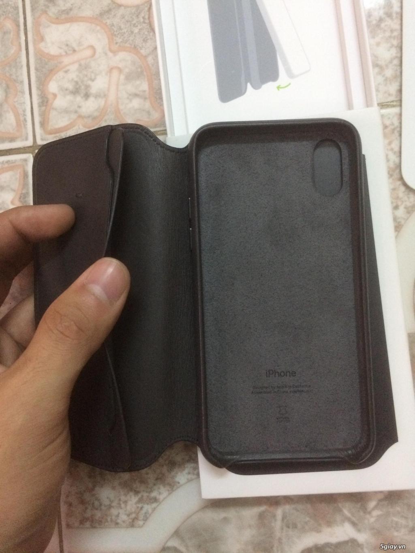 Bao da thật Iphone X chính hãng Apple Folio - 3
