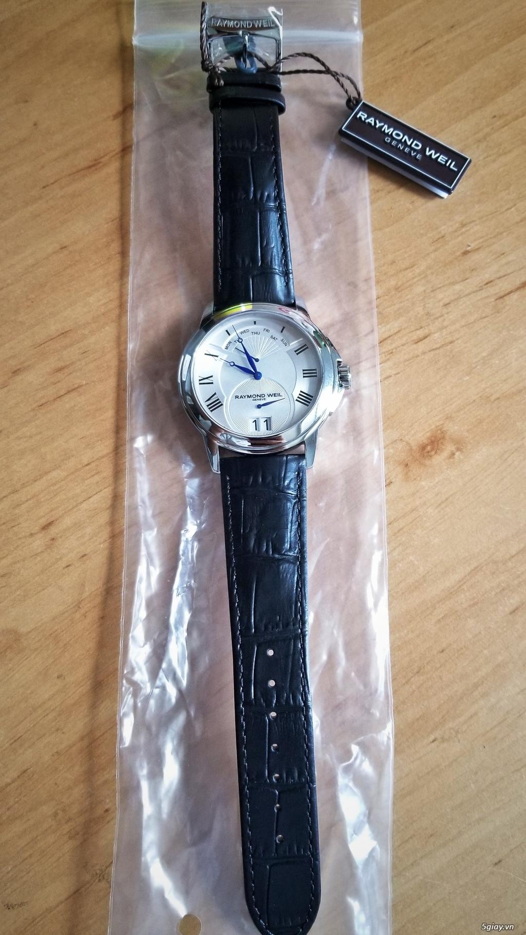 Đồng hồ Raymond Weil (Swiss) fullbox new 100% (hình thật) - 3
