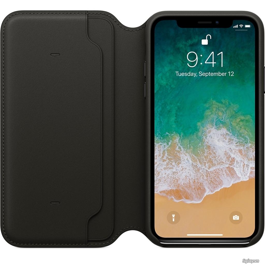 Bao da thật Iphone X chính hãng Apple Folio