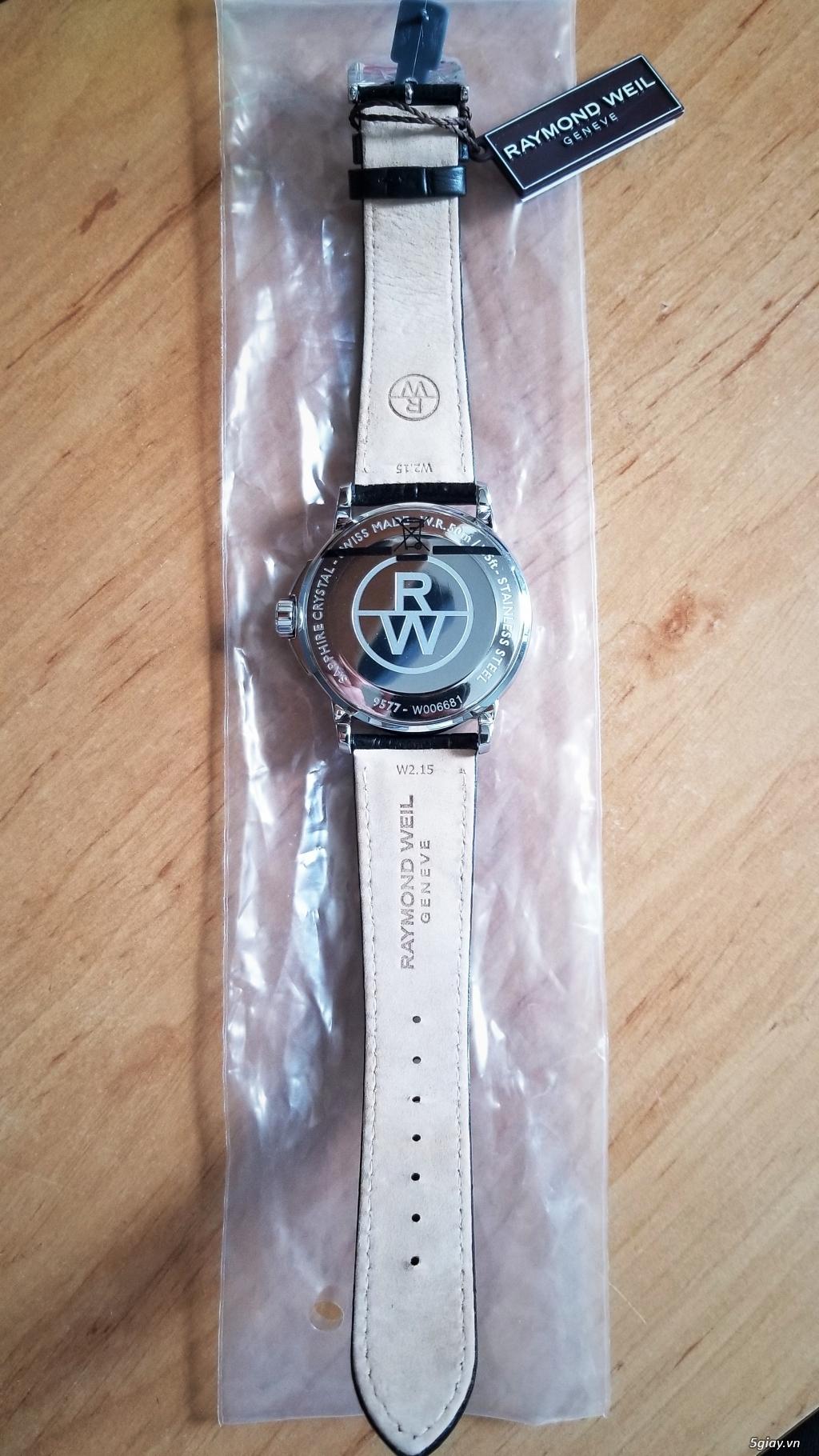 Đồng hồ Raymond Weil (Swiss) fullbox new 100% (hình thật) - 4