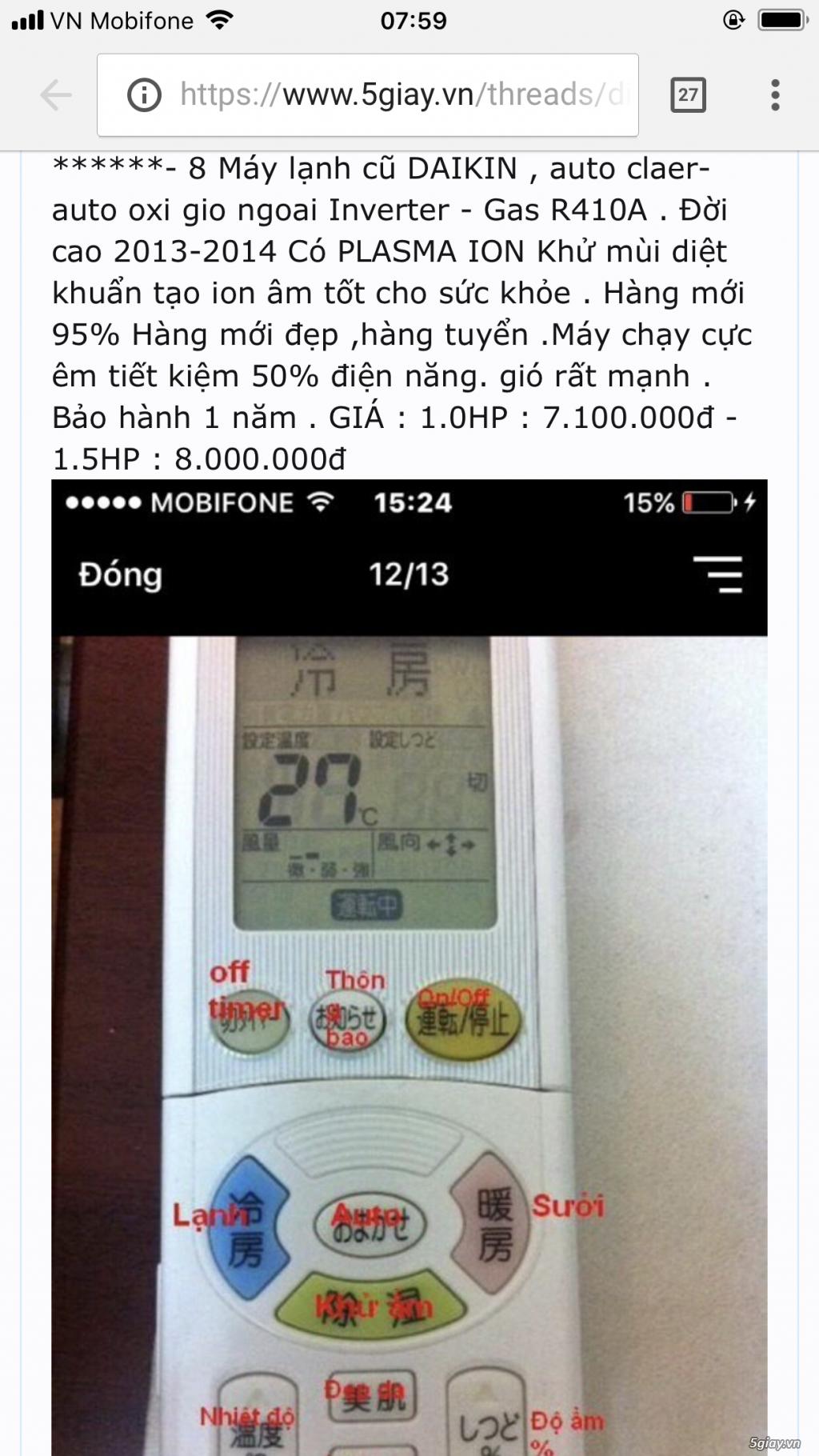 Điều Hoà DAIKIN,TOSHIBA hàng Nội Địa Nhật cũ inverter  gas R410A-R32đời víp 2016-2018 giá rẻ mới 90%