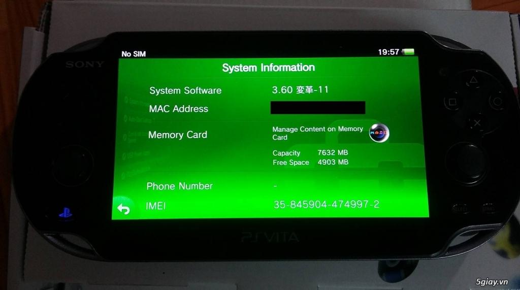 Cần bán: PS vita 1100. fw 3.60 đã hack (máy nhật)