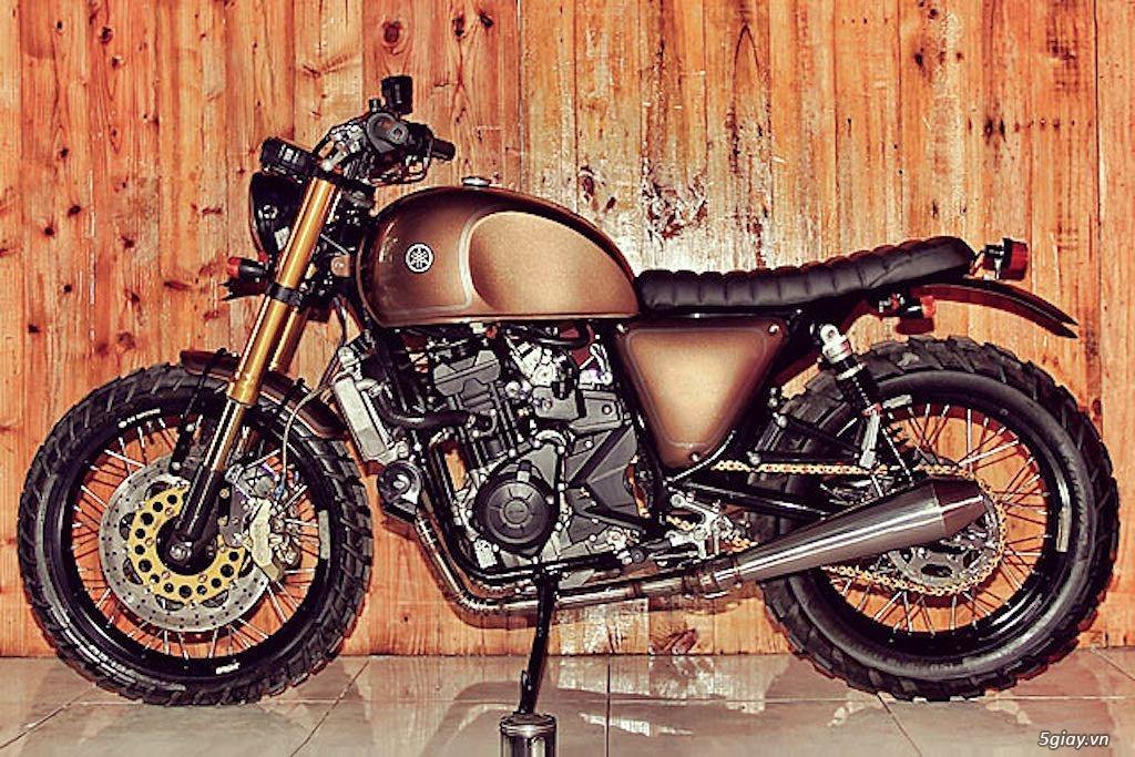 Yamaha R25 lột xác thành scrambler - 1