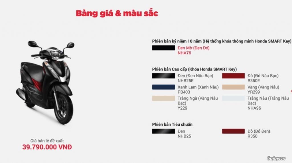 Ra mắt Honda Lead màu đen mờ phiên bản kỷ niệm 10 năm - 2