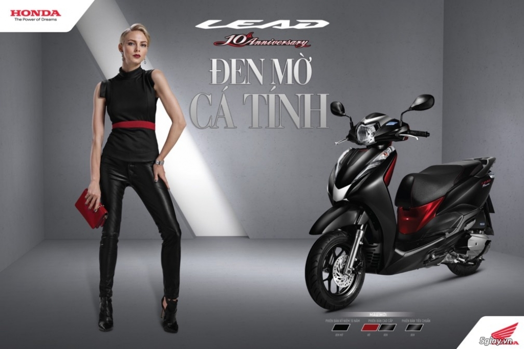 Ra mắt Honda Lead màu đen mờ phiên bản kỷ niệm 10 năm