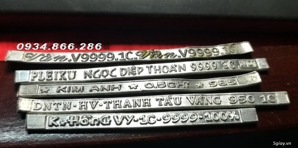 HCM-  Nhận gia công các loại máy Cán Vàng - cán chữ trên Nhẫn VÀNG 24K - 2