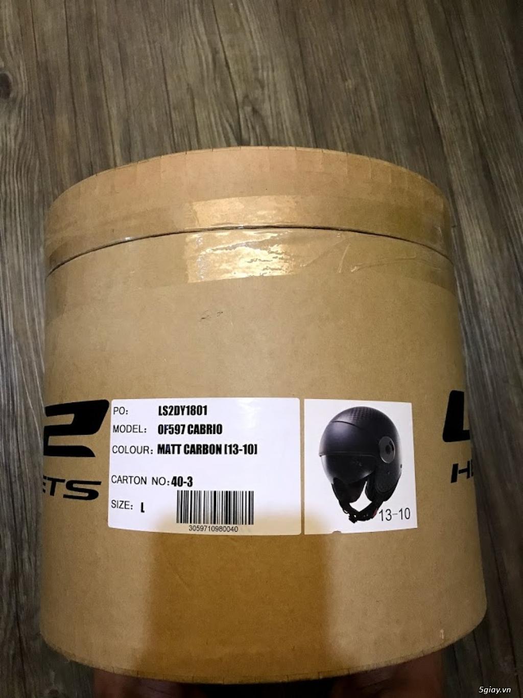 Mũ 3/4 LS2 CABRIO CARBON OF597 - 11
