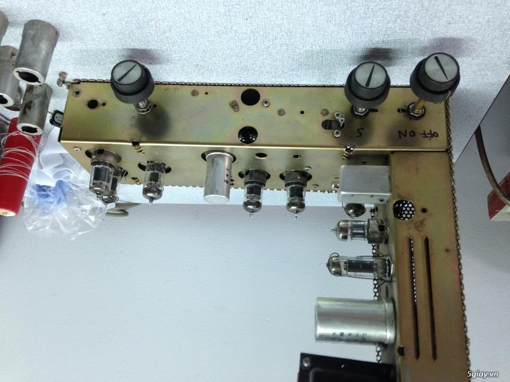 Pre Ampex made in USA  , 8 bong 12AX7 Sylvania chu xanh rat moi ,,, - 3