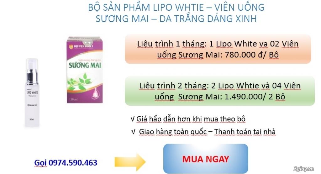Kem trị nám Lipo White, Smartcos SKGinseng, Viên uống Sương Mai - Hvqy - 6