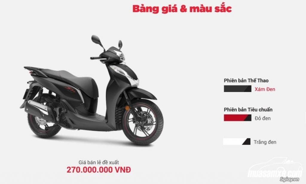 Thông số kỹ thuật Honda SH300i 2018