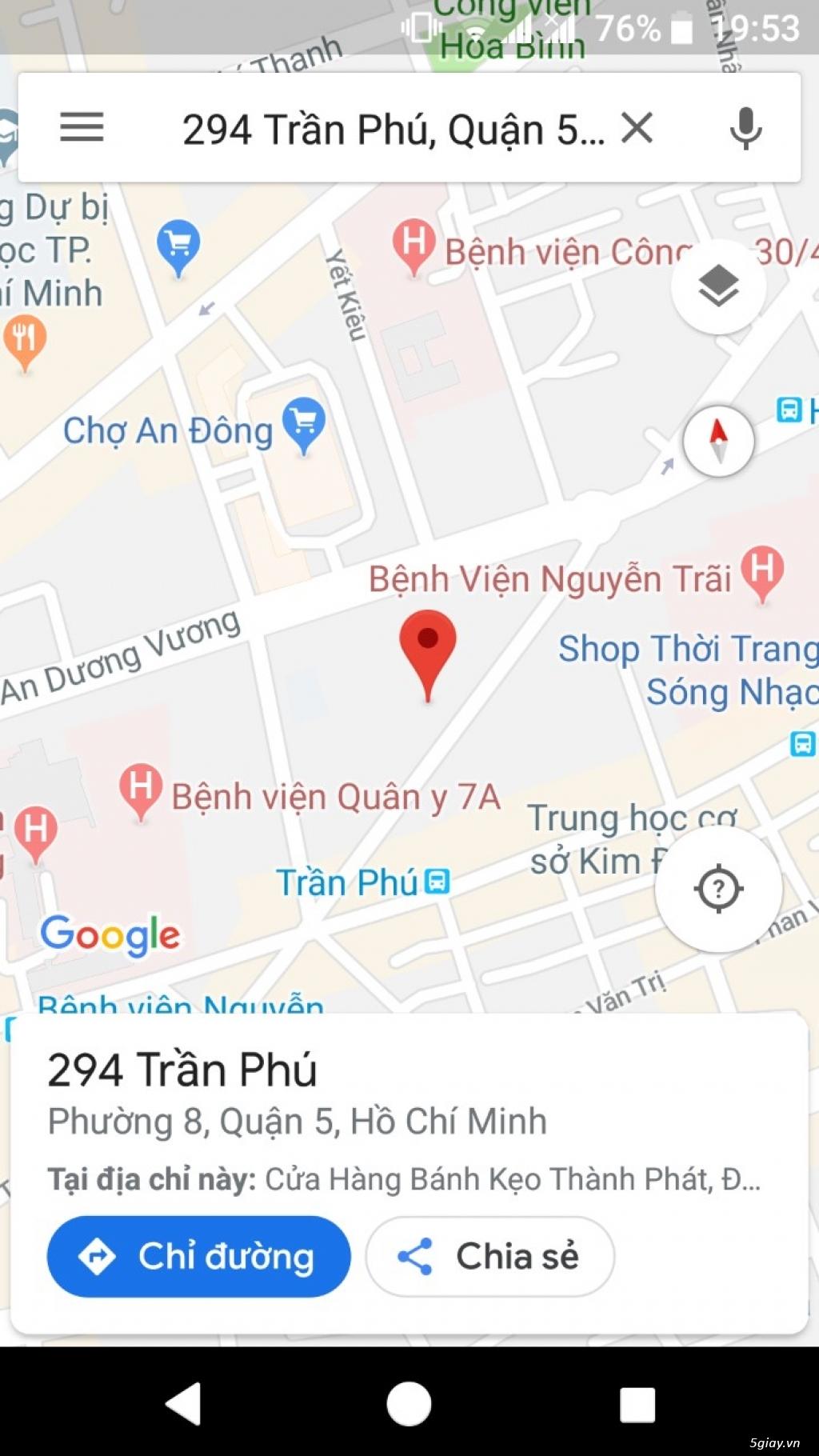 Bán nhà mặt tiền đường Trần Phú 2 chiều P8, Q5, 3 lầu,DT: 4mx21m.