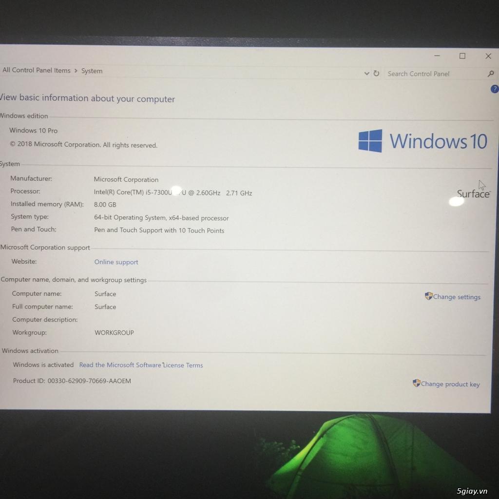 Cần bán Surface Pro 2017 - 1