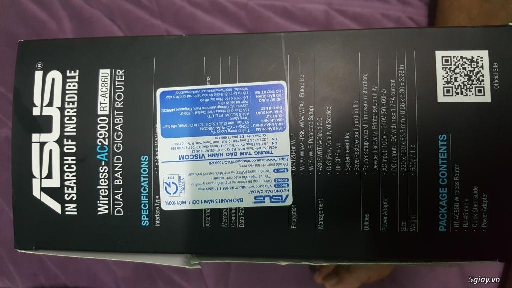 Cần bán router chuyên game Asus RT-AC86U (còn bảo hành 2.5 năm) - 2