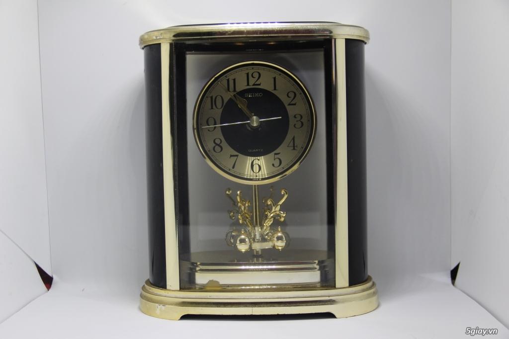 Đồng hồ để bàn hàng Nhật second hand - 13
