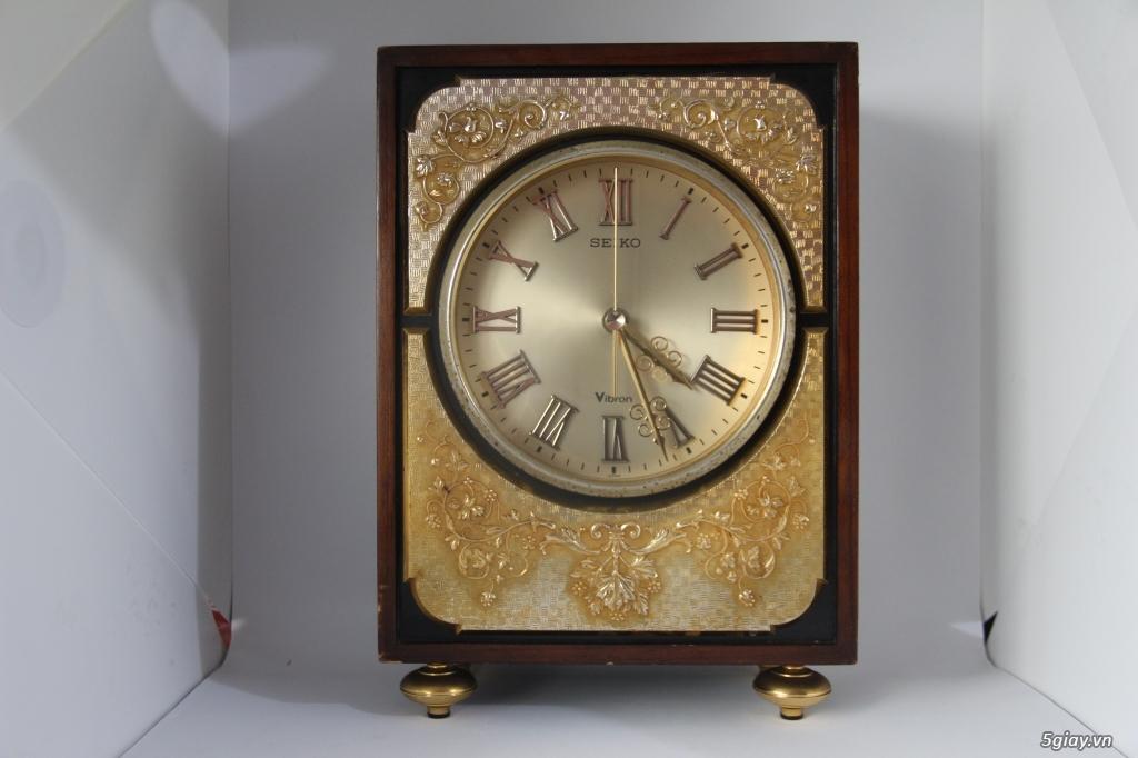 Đồng hồ để bàn hàng Nhật second hand - 21