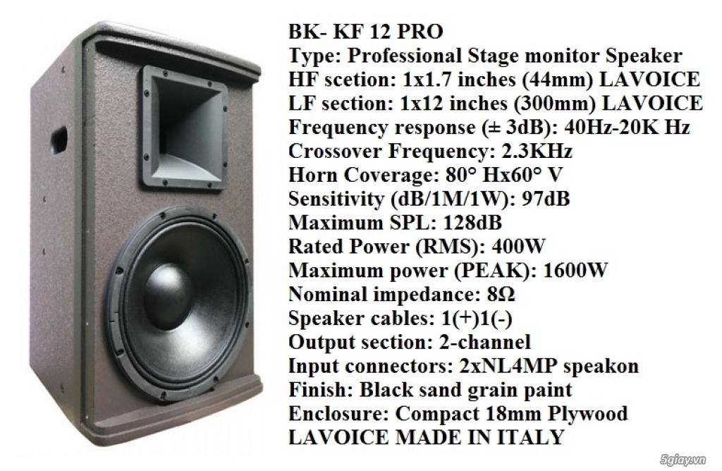 loa BK-KF12 PRO ( nhập khẩu italia )
