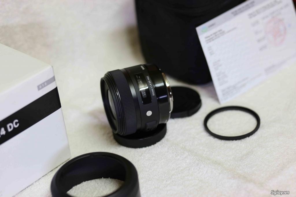 bán lens sigma 30 art chính hãng shriro còn BH 1/2019 - 3