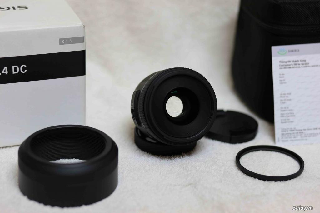 bán lens sigma 30 art chính hãng shriro còn BH 1/2019 - 2