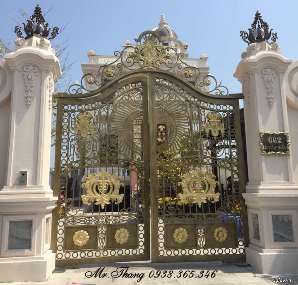 Cửa Cổng Sắt Mỹ Thuật Đẹp Sài Gòn