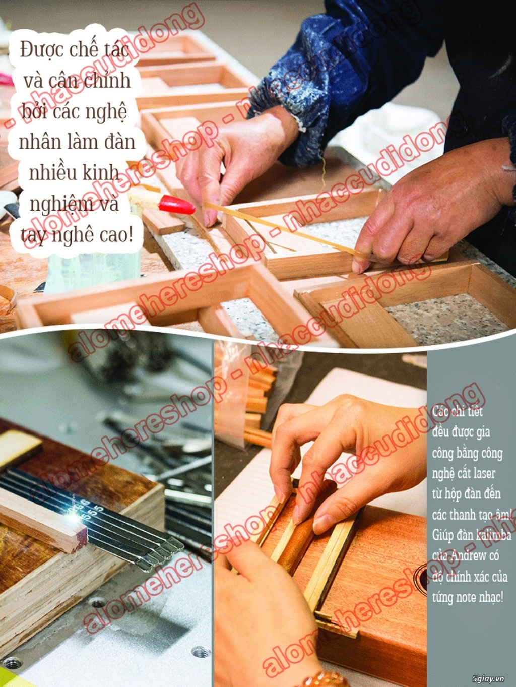 [Kalimba Shop] Chuyên các loại đàn Kalimba 10 15 17 phím, phụ kiện DIY - 3