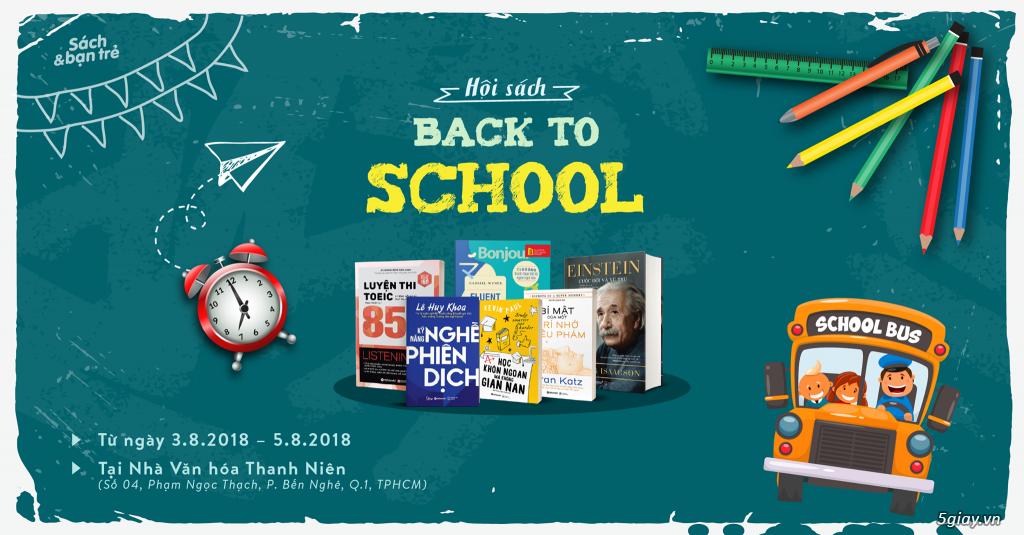 Ngày Hội Sách Back To School do Sách & bạn trẻ và Alpha Books tổ chức tại Tp. Hồ Chí Minh
