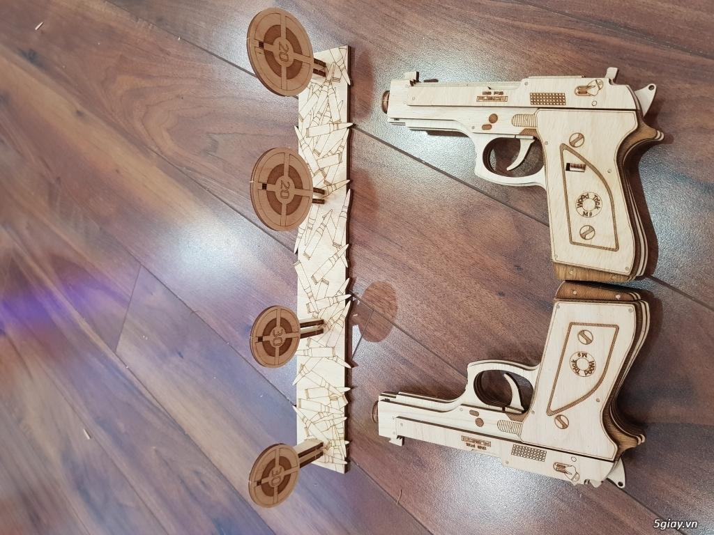 Mô hình cơ học DIY bằng gỗ - Ba mẹ và bé cùng chơi - 4