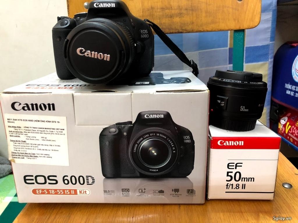 Cần bán bộ Canon 600D, len kit 18-55, len 50 1.8, flash, tripod - 2
