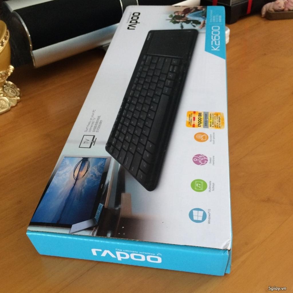 Thanh lý Bàn phím chuột cảm ứng không dây Rapoo K2600 nguyên seal 100% - 2