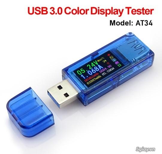 Bộ USB test đo dòng sạc điện thoại, kiểm tra pin sạc dự phòng, cục sạc - 2