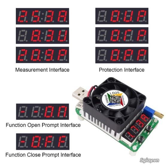 Bộ USB test đo dòng sạc điện thoại, kiểm tra pin sạc dự phòng, cục sạc - 24