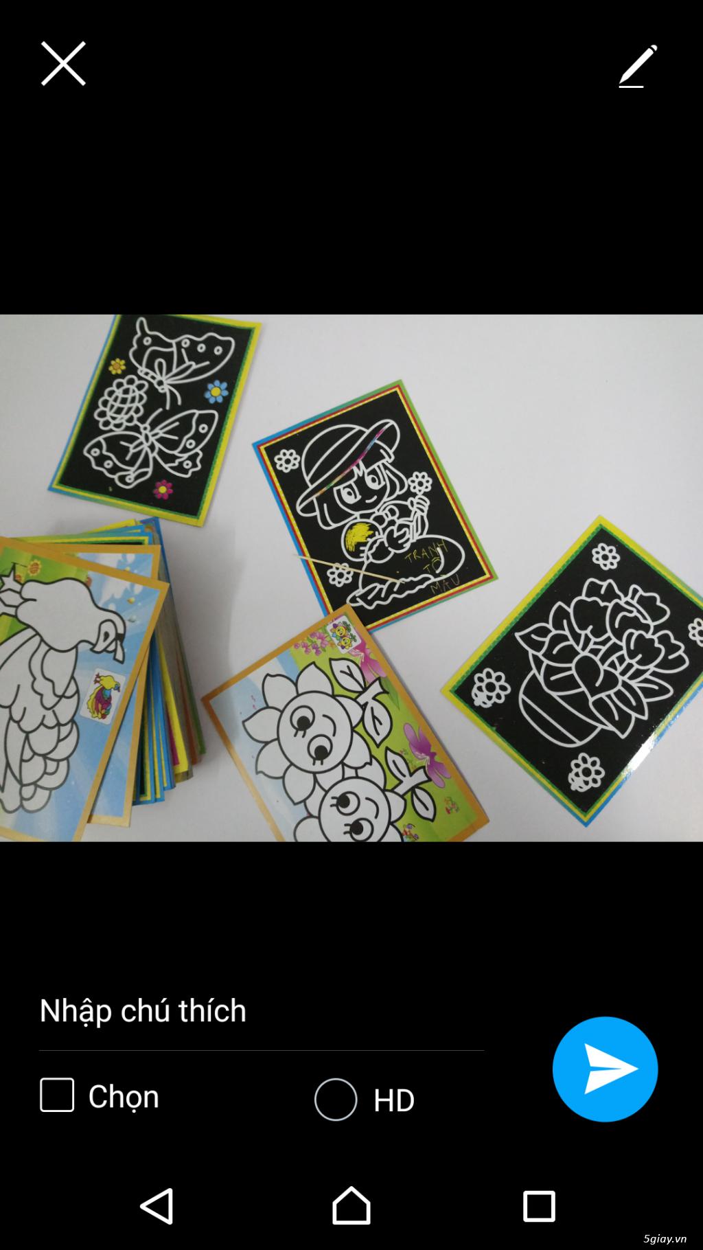 combo 100 tranh tô màu 2 mặt. tặng 12 màu, 20 cây cọ, khay - 2