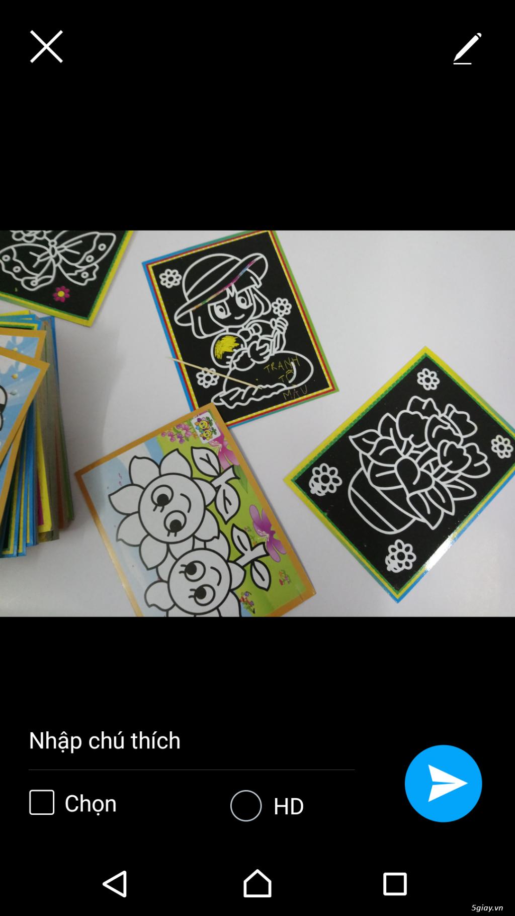 combo 100 tranh tô màu 2 mặt. tặng 12 màu, 20 cây cọ, khay - 4