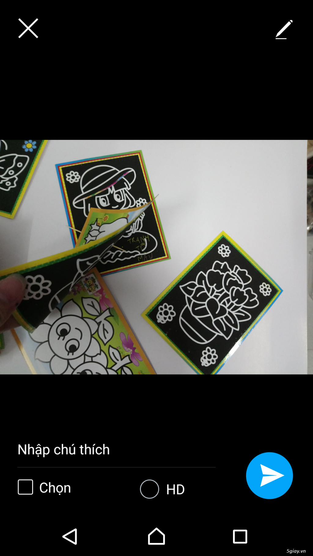 combo 100 tranh tô màu 2 mặt. tặng 12 màu, 20 cây cọ, khay - 1