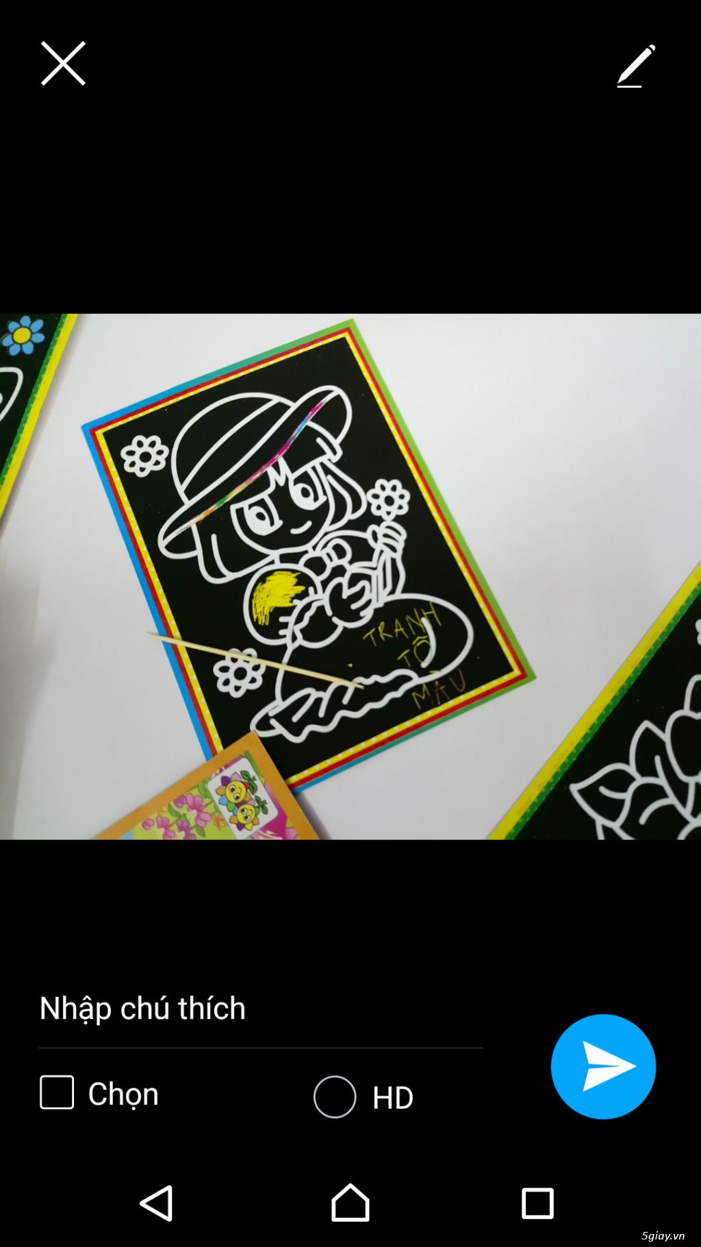 combo 100 tranh tô màu 2 mặt. tặng 12 màu, 20 cây cọ, khay