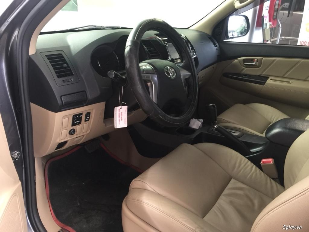Bán xe Fortuner máy Xăng đời 2015 màu Bạc - 4