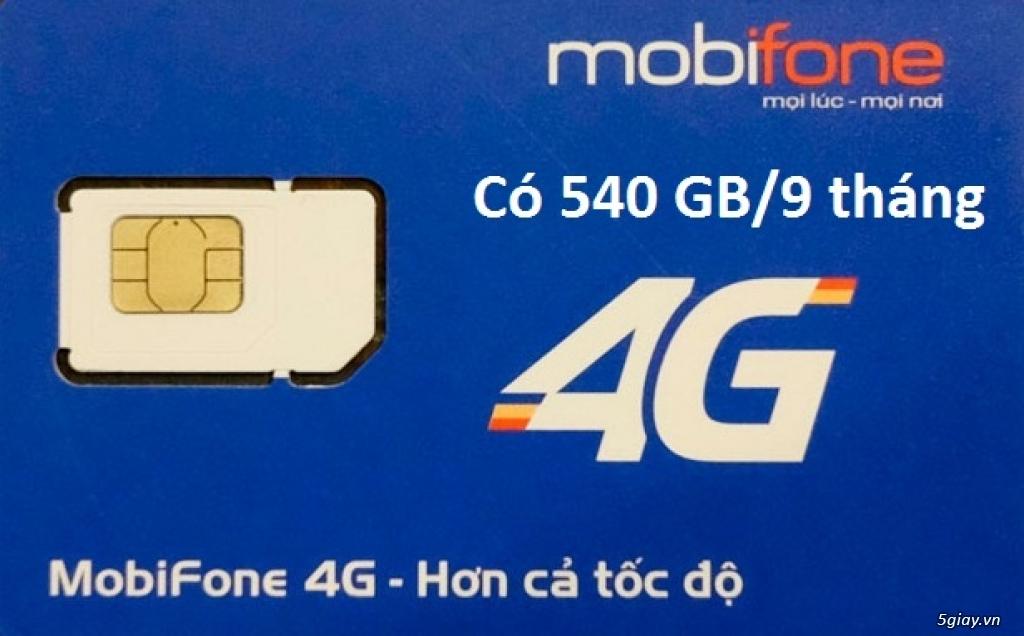 SIM 4G MOBIFONE GÓI MDT250A 540GB