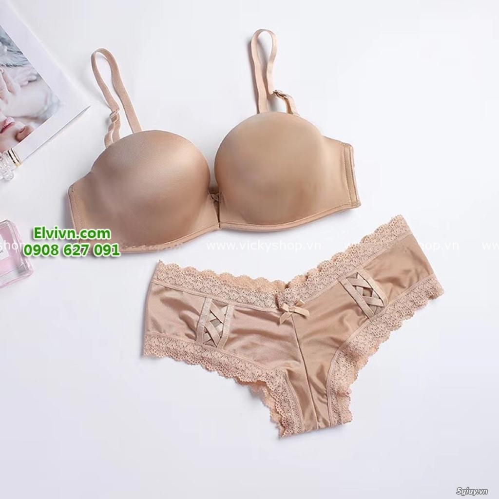 Áo ngực không dây, áo ngực mặc đầm hở lưng, áo ngực nâng ngực siêu dày - 12