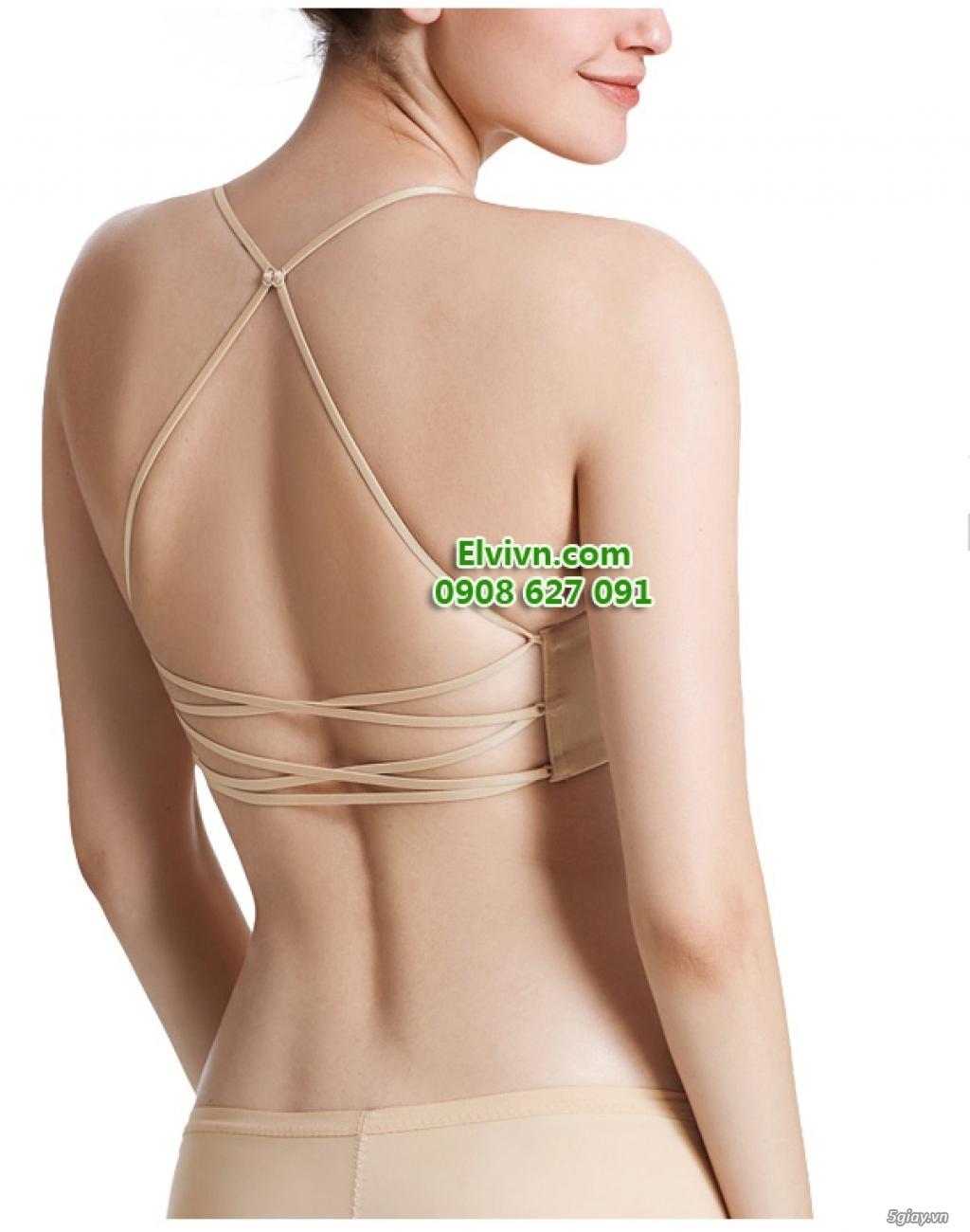 Áo ngực không dây, áo ngực mặc đầm hở lưng, áo ngực nâng ngực siêu dày - 33
