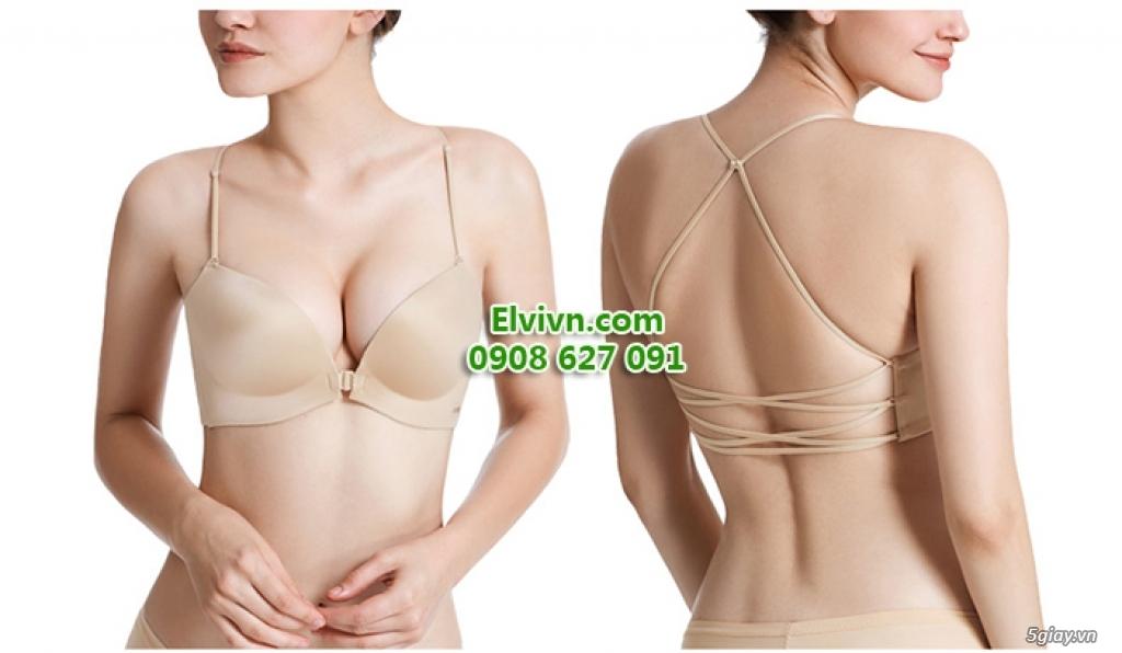 Áo ngực không dây, áo ngực mặc đầm hở lưng, áo ngực nâng ngực siêu dày - 36