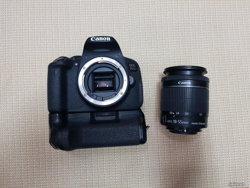 Bán/đổi Canon 700D + kit 15-55 + Grip + 3 pin - 4