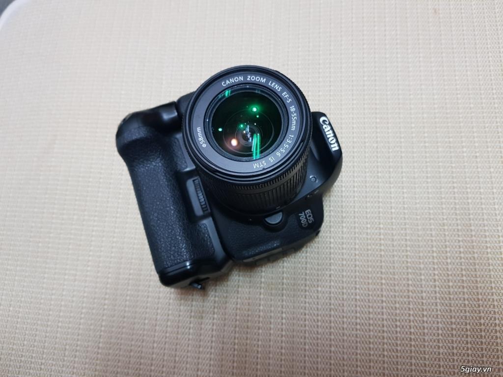 Bán/đổi Canon 700D + kit 15-55 + Grip + 3 pin
