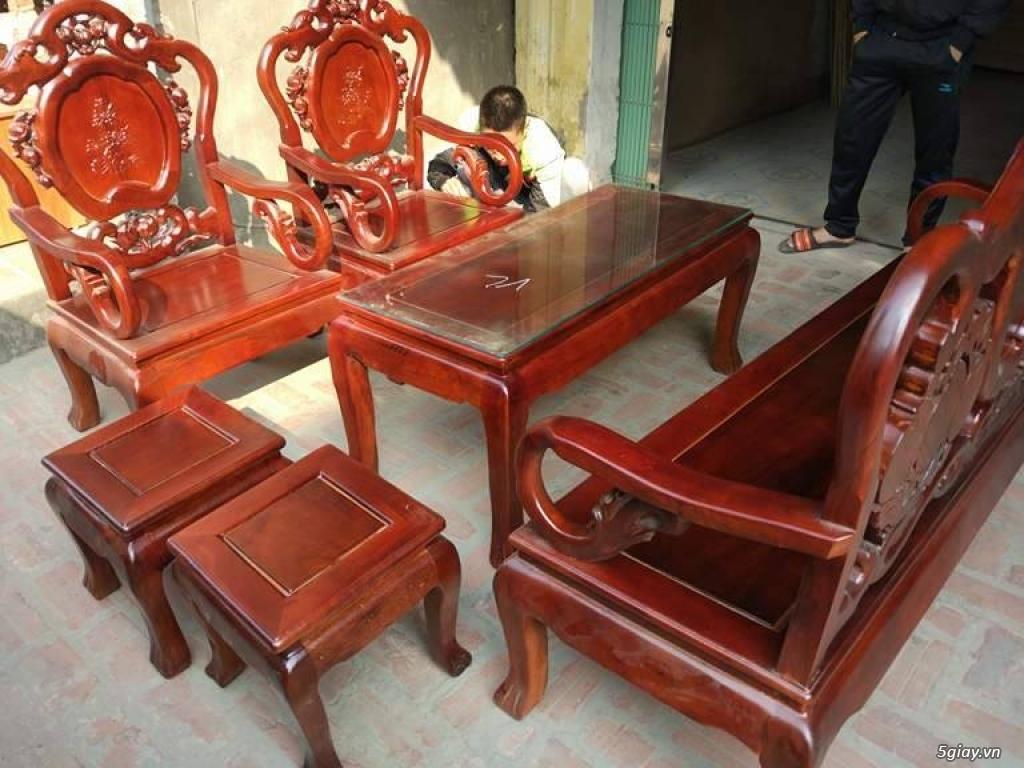 Bộ bàn ghế guột gỗ nhãn phun PU - 2