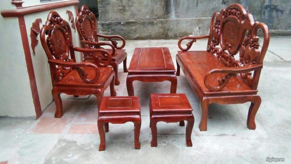 Bộ bàn ghế guột gỗ nhãn phun PU - 1