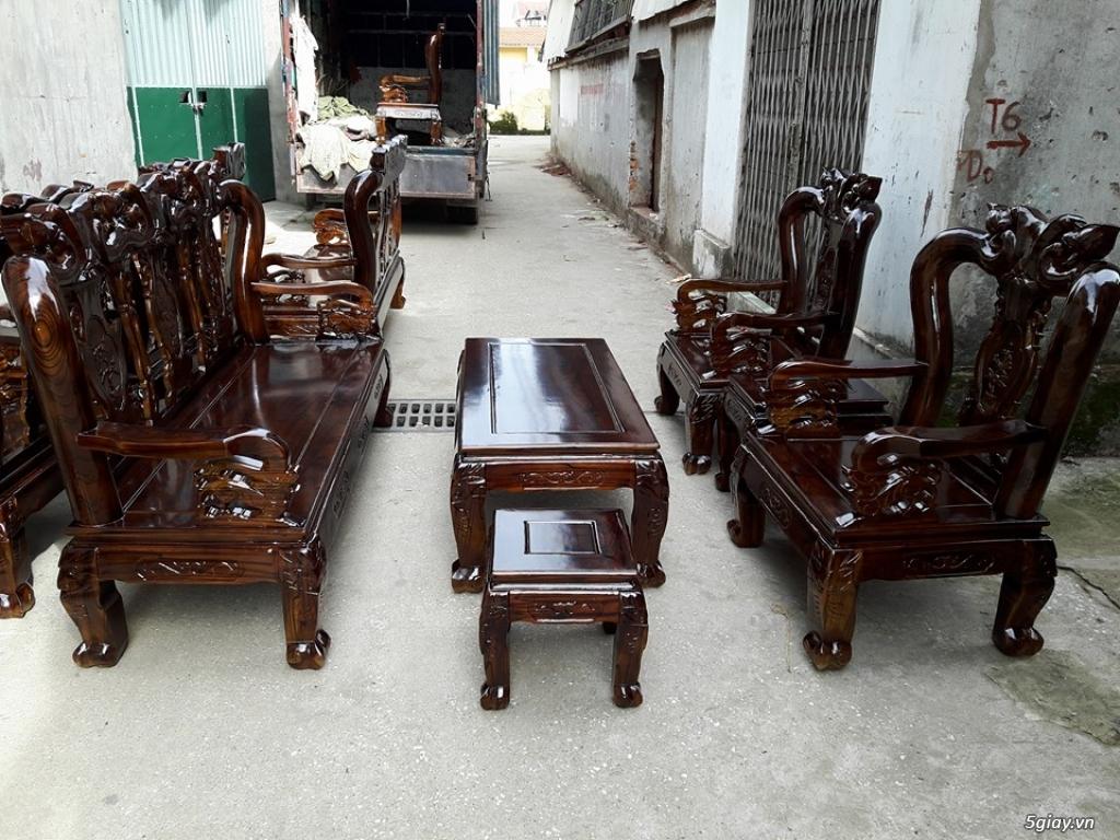 Bộ Bàn Ghế Gỗ Tràm Phun Pu Giả Mun - 5