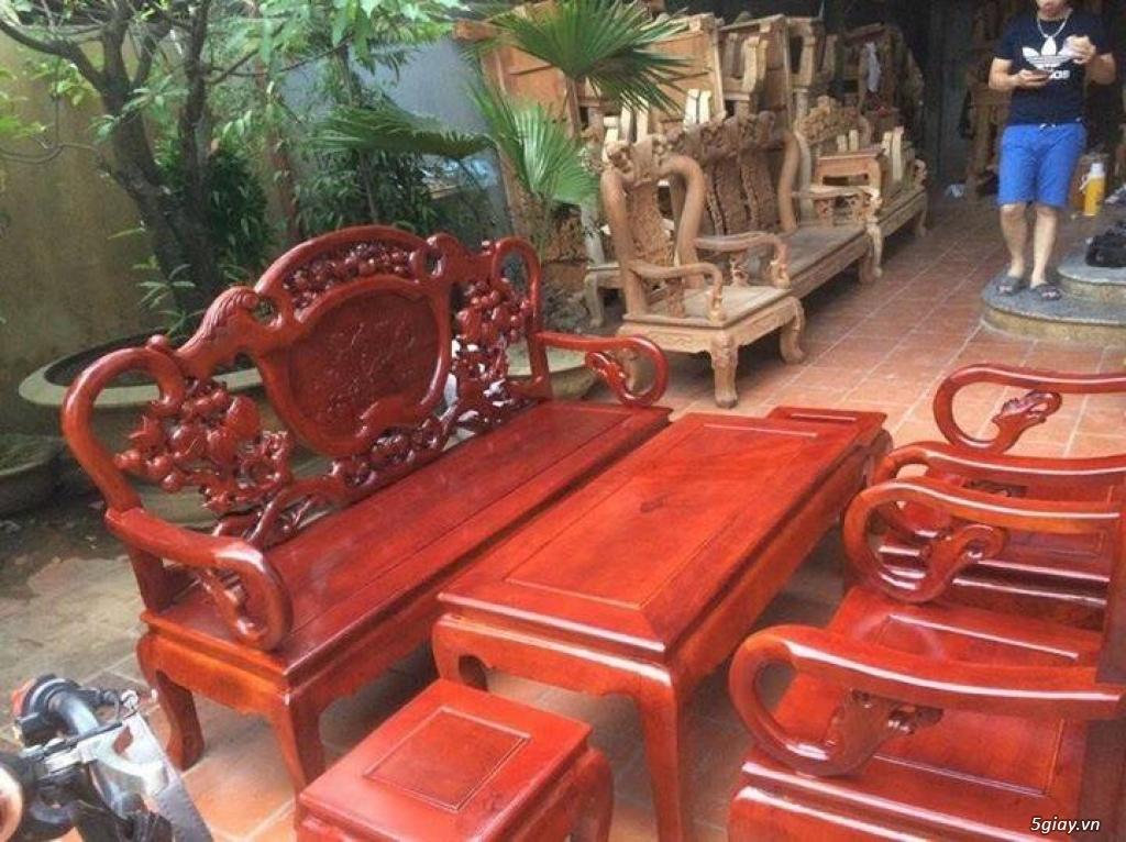 Bộ bàn ghế guột gỗ nhãn phun PU - 3
