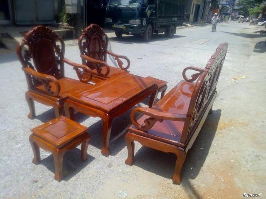 Bộ bàn ghế guột gỗ nhãn phun PU - 6