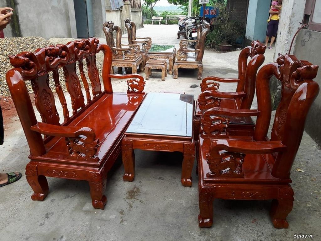 Bộ bàn ghế minh quốc đào gỗ xoan ta - 1