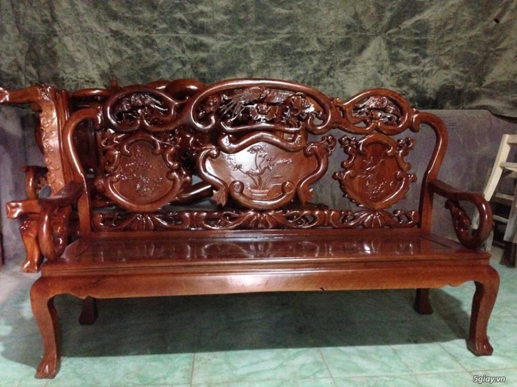 Bộ bàn ghế guột gỗ nhãn phun PU - 7