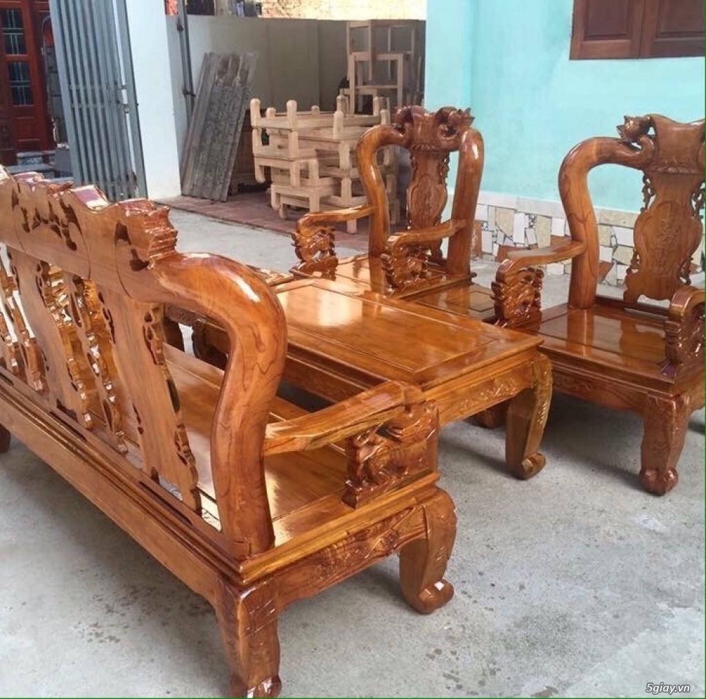 Bộ bàn ghế minh quốc đào gỗ xoan ta - 2